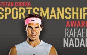 Nadal giật giải Tinh thần thể thao của năm