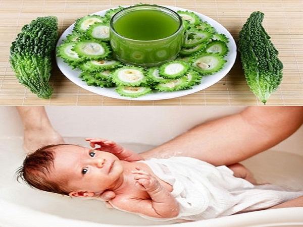 Cách tắm mướp đắng cho trẻ an toàn cho da trẻ