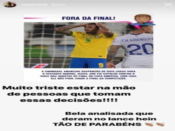 Tin bóng đá trưa ngày 8/7: Neymar chỉ trích CONMEBOL